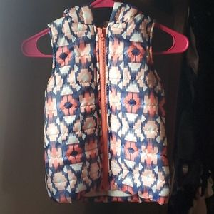 Girls Hooded Puffer Vest